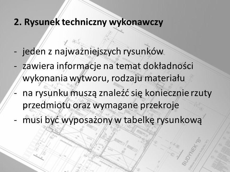 2. Rysunek techniczny wykonawczy