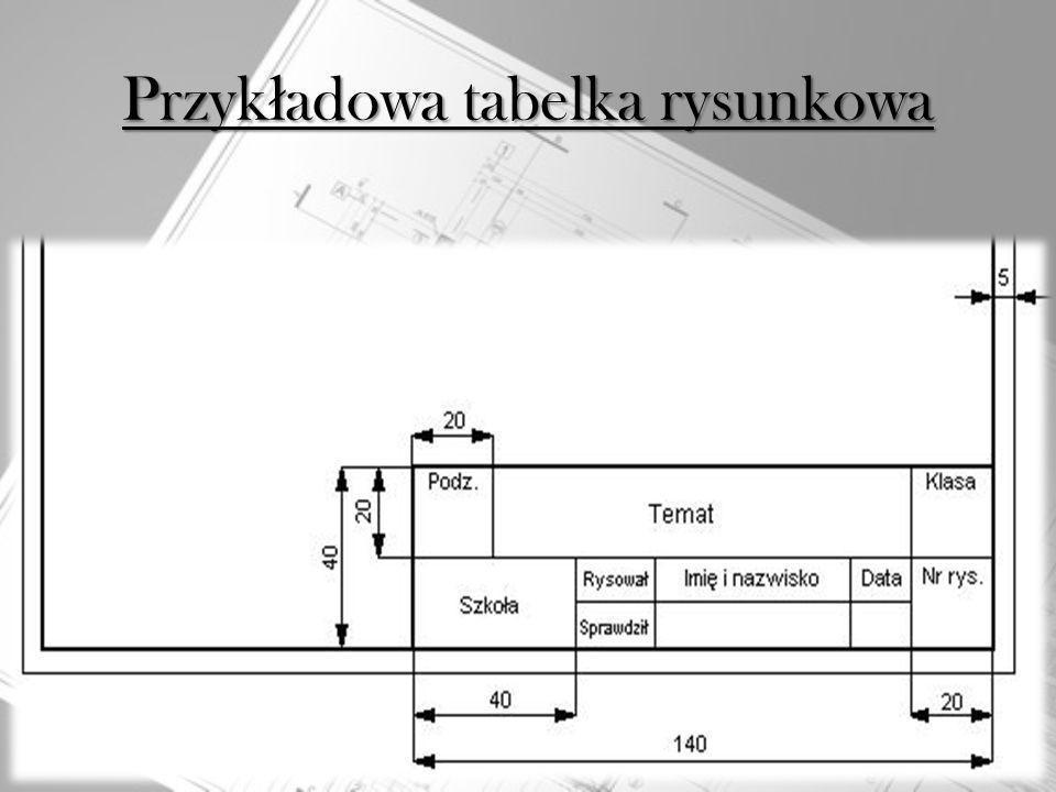 Przykładowa tabelka rysunkowa