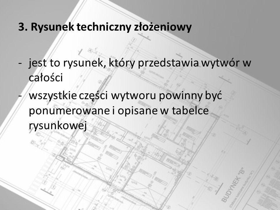 3. Rysunek techniczny złożeniowy