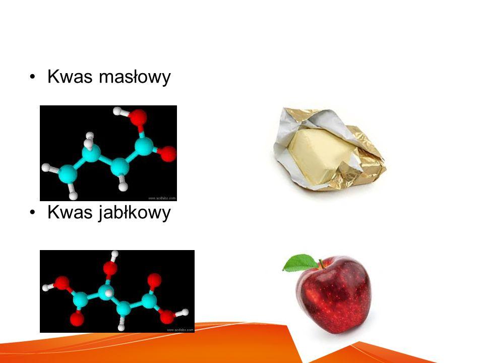 Kwas masłowy Kwas jabłkowy