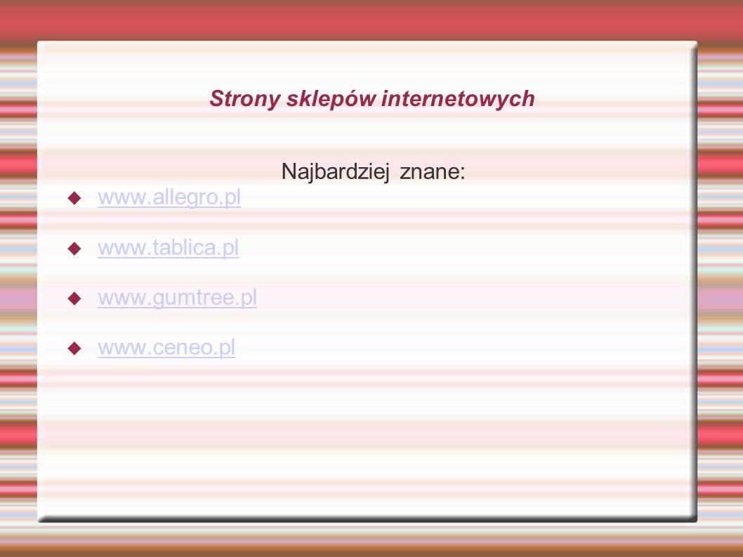Strony sklepów internetowych