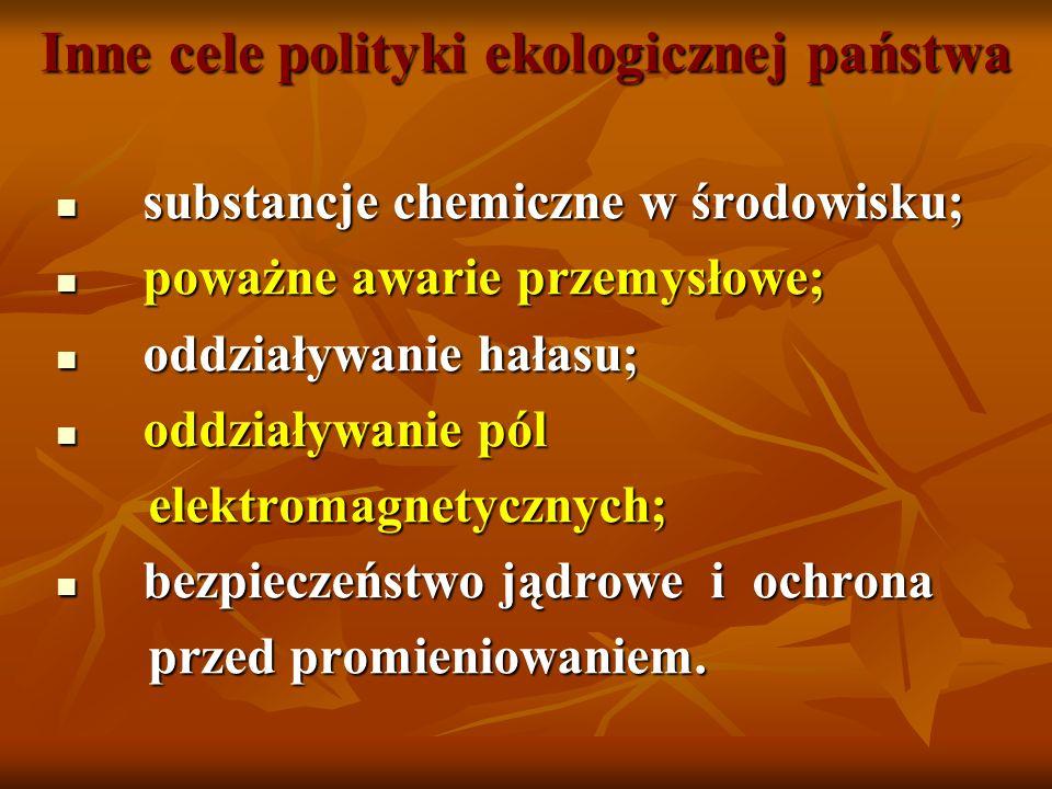 Inne cele polityki ekologicznej państwa