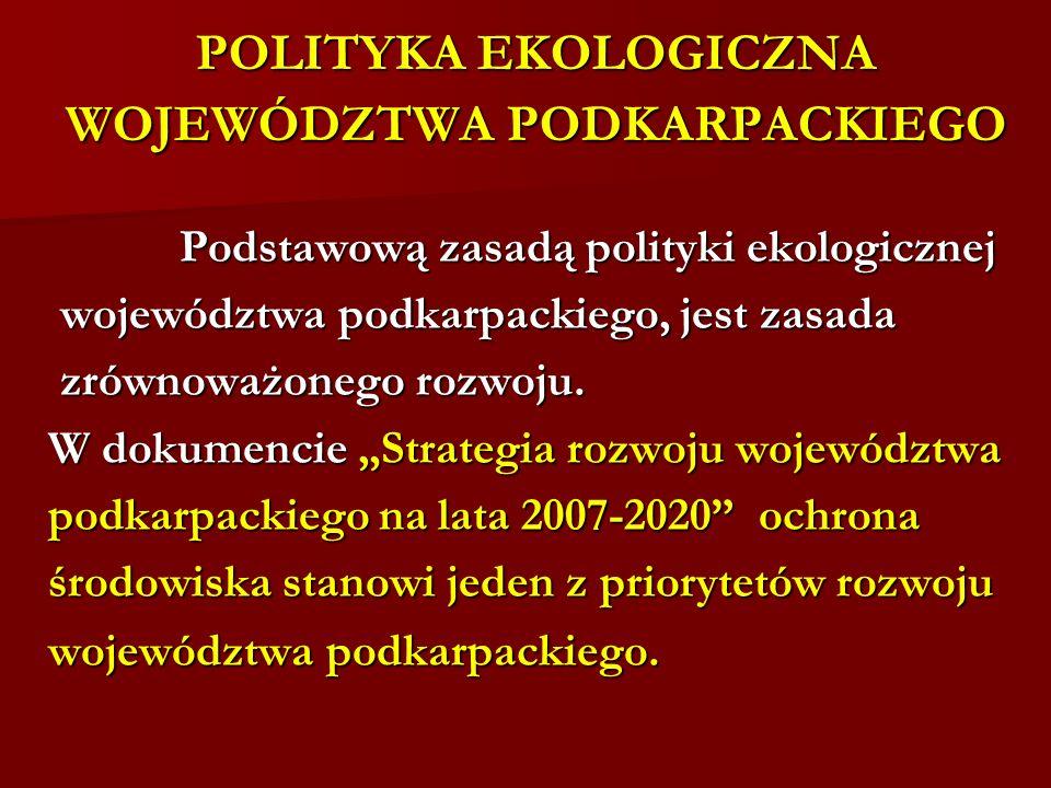 POLITYKA EKOLOGICZNA WOJEWÓDZTWA PODKARPACKIEGO