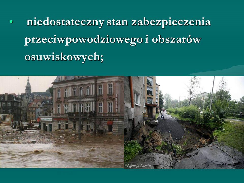 przeciwpowodziowego i obszarów osuwiskowych;