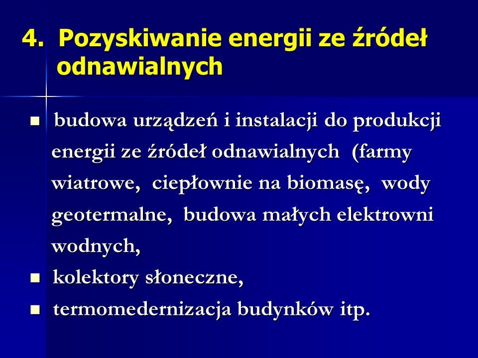 4. Pozyskiwanie energii ze źródeł odnawialnych