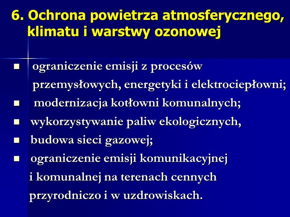 6. Ochrona powietrza atmosferycznego, klimatu i warstwy ozonowej
