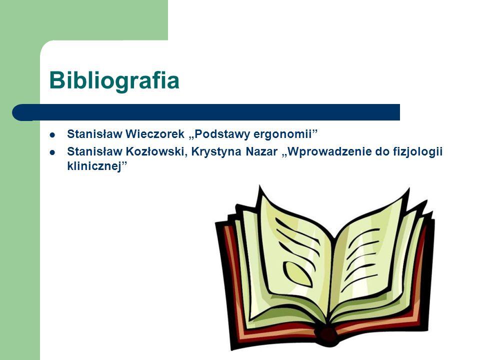 """Bibliografia Stanisław Wieczorek """"Podstawy ergonomii"""