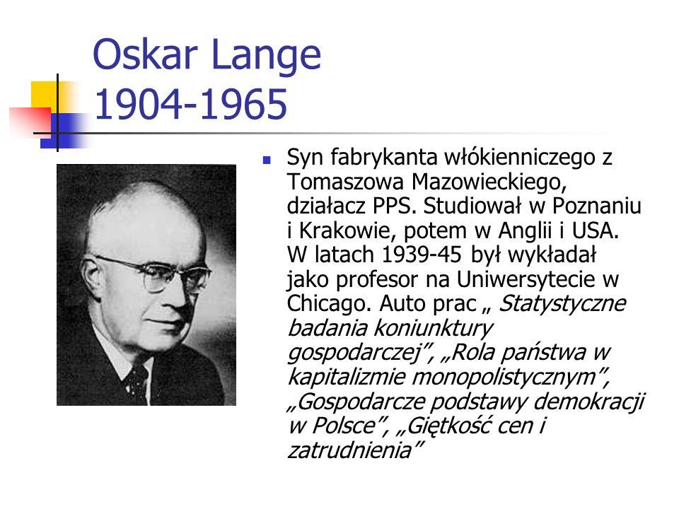 Oskar Lange 1904-1965