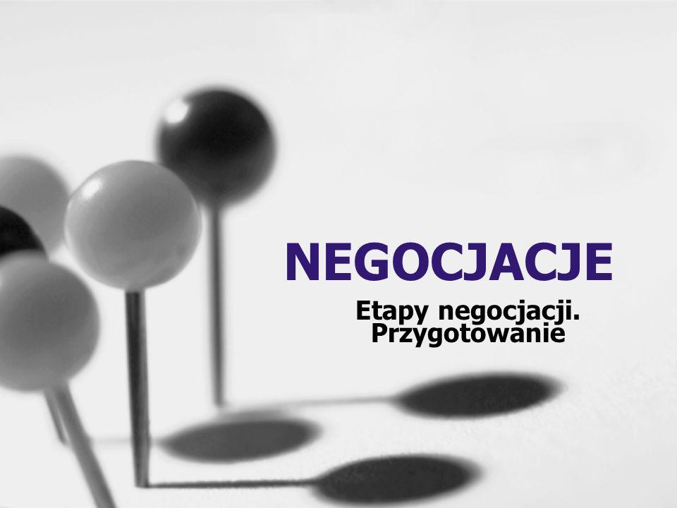 Etapy negocjacji. Przygotowanie
