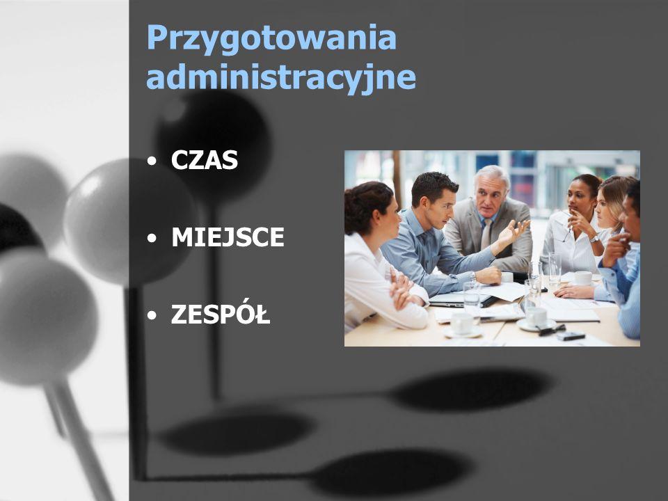 Przygotowania administracyjne