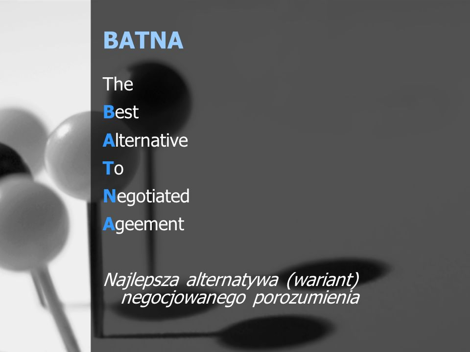 BATNA The Best Alternative To Negotiated Ageement