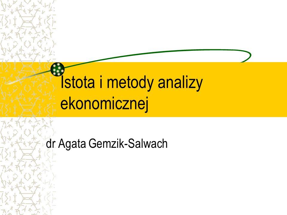 Istota i metody analizy ekonomicznej