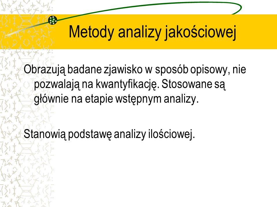 Metody analizy jakościowej