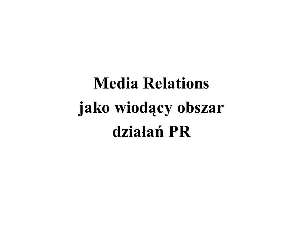 Media Relations jako wiodący obszar działań PR