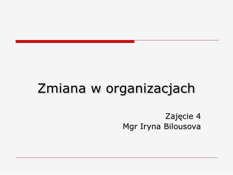 Zmiana w organizacjach