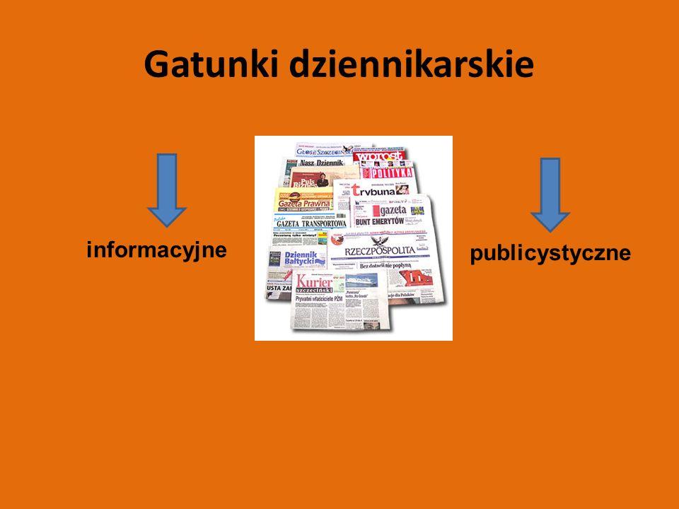 Gatunki dziennikarskie