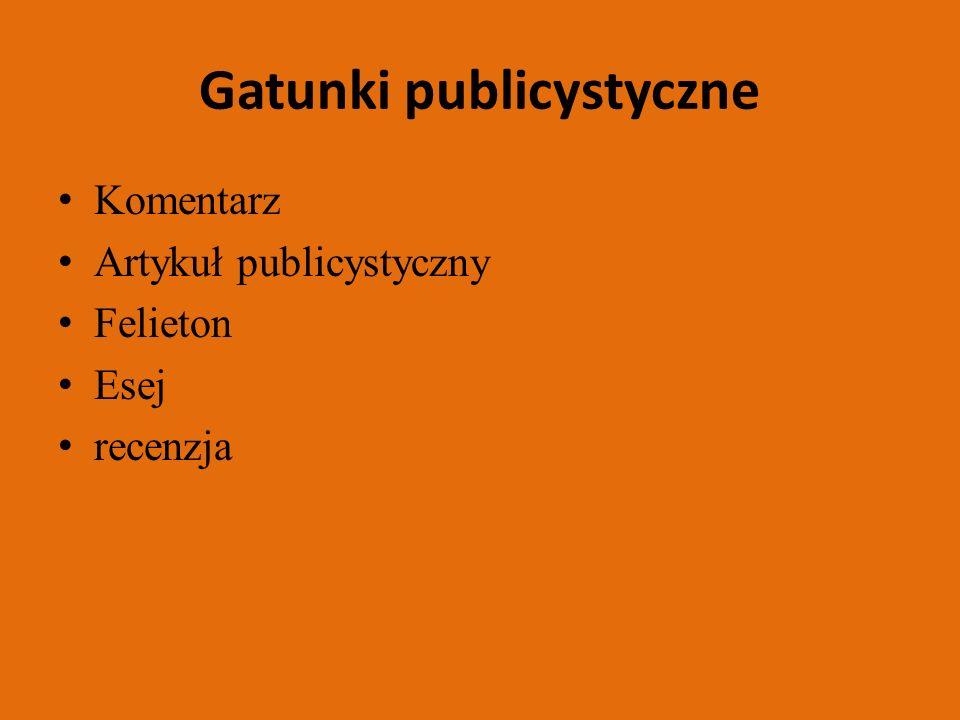 Gatunki publicystyczne