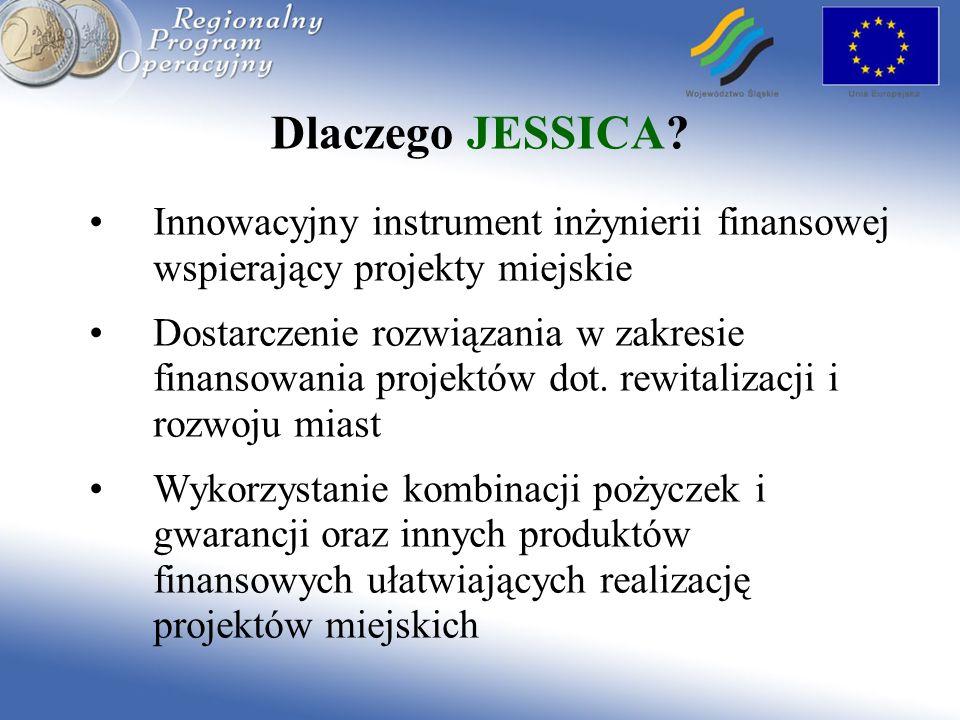 Dlaczego JESSICA Innowacyjny instrument inżynierii finansowej wspierający projekty miejskie.
