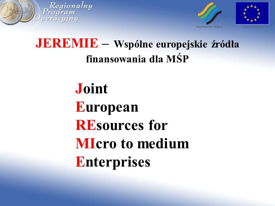 JEREMIE – Wspólne europejskie źródła finansowania dla MŚP