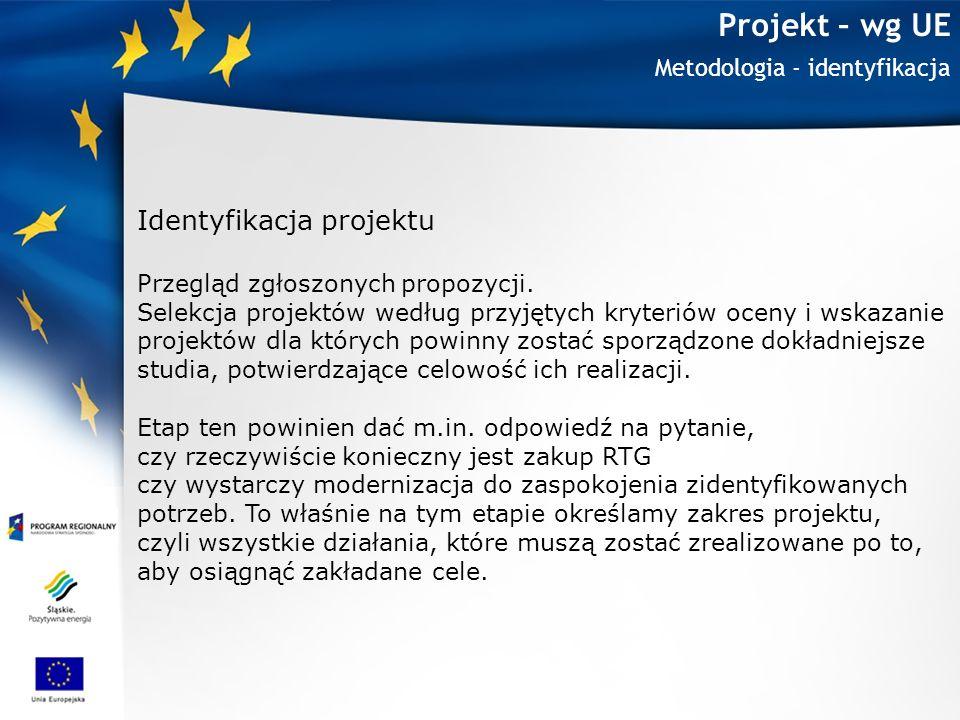 Projekt – wg UE Identyfikacja projektu Metodologia - identyfikacja