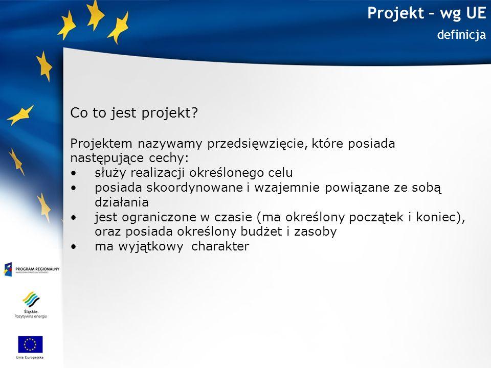 Projekt – wg UE Co to jest projekt definicja