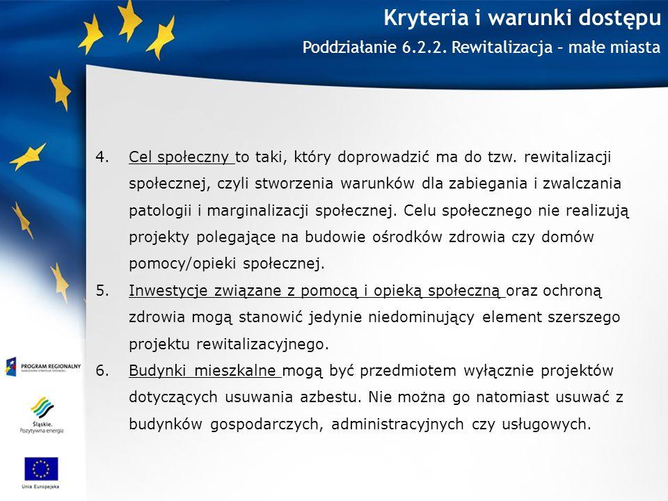 Kryteria i warunki dostępu