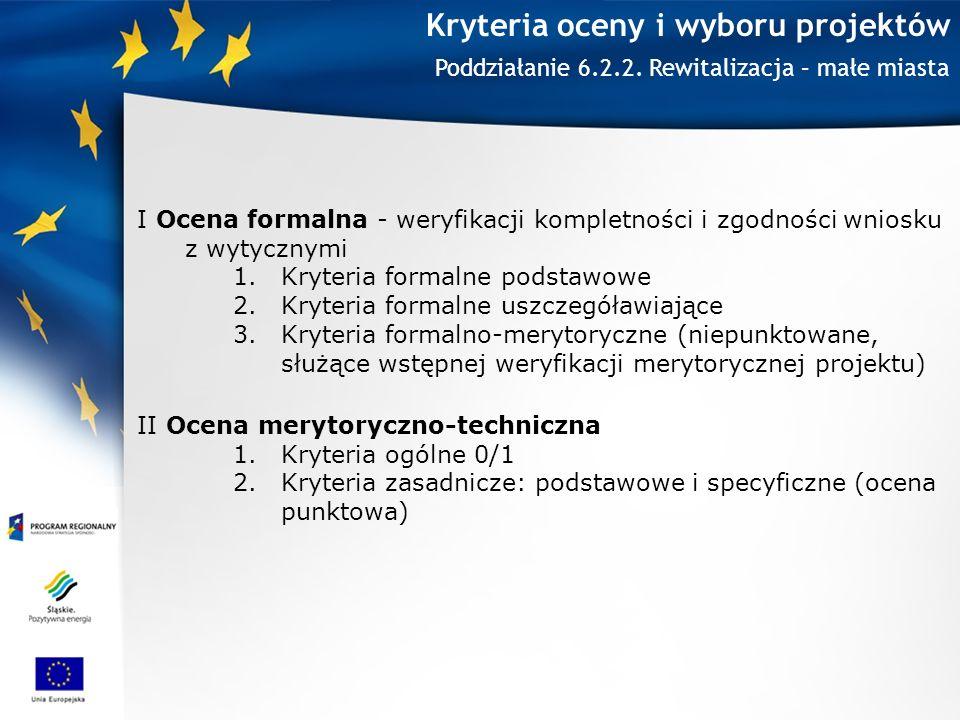 Kryteria oceny i wyboru projektów