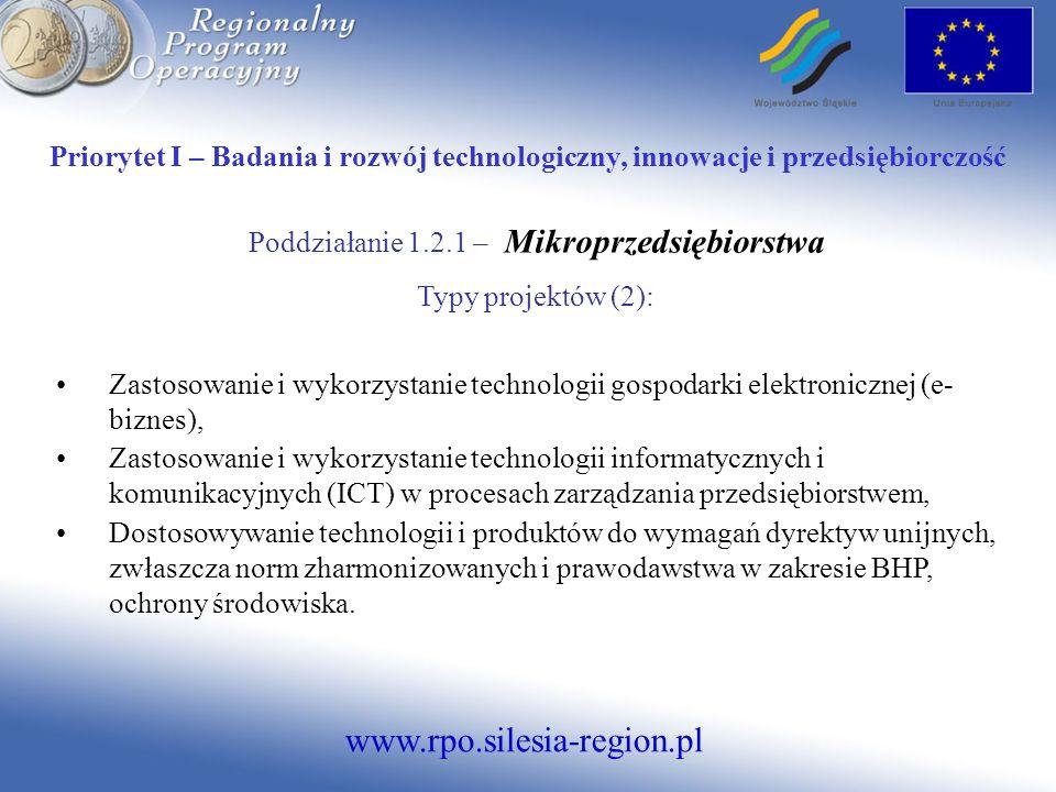 Poddziałanie 1.2.1 – Mikroprzedsiębiorstwa