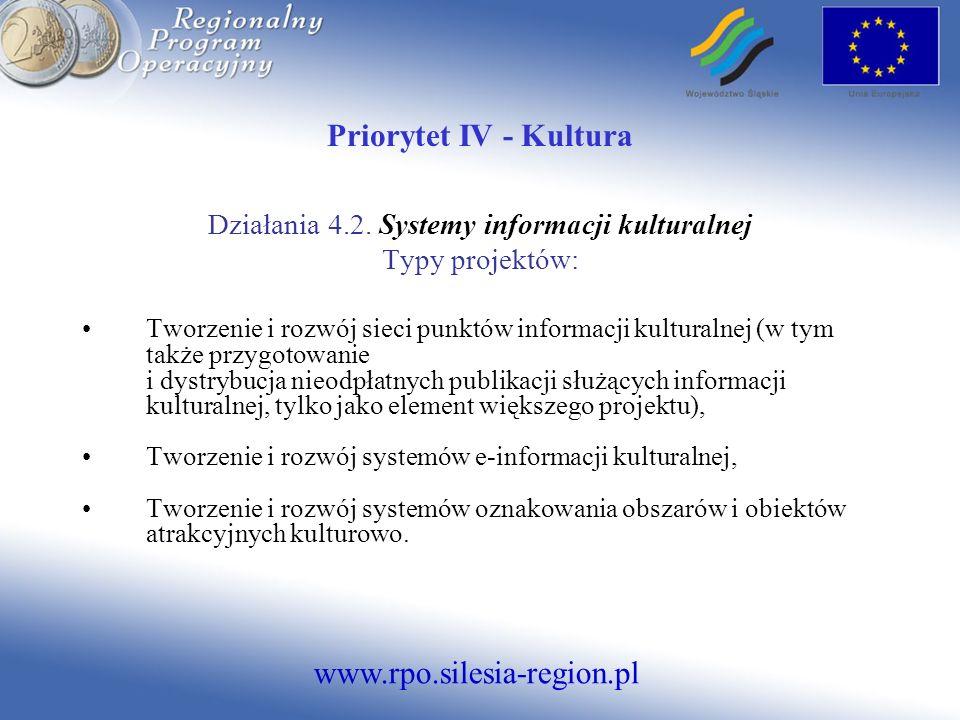 Działania 4.2. Systemy informacji kulturalnej