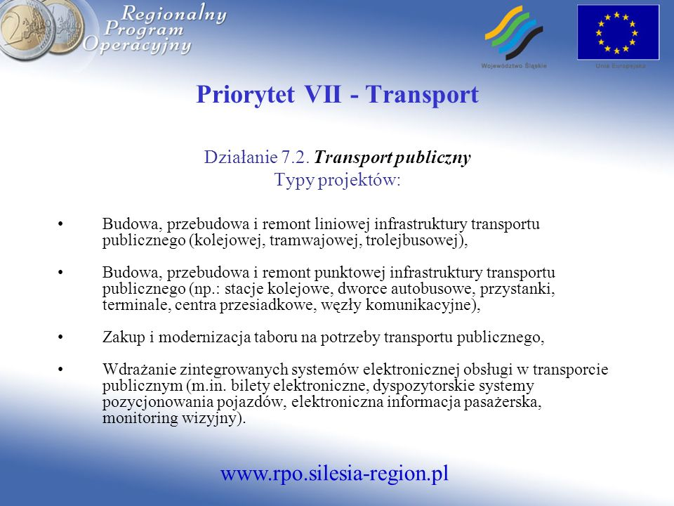 Priorytet VII - Transport