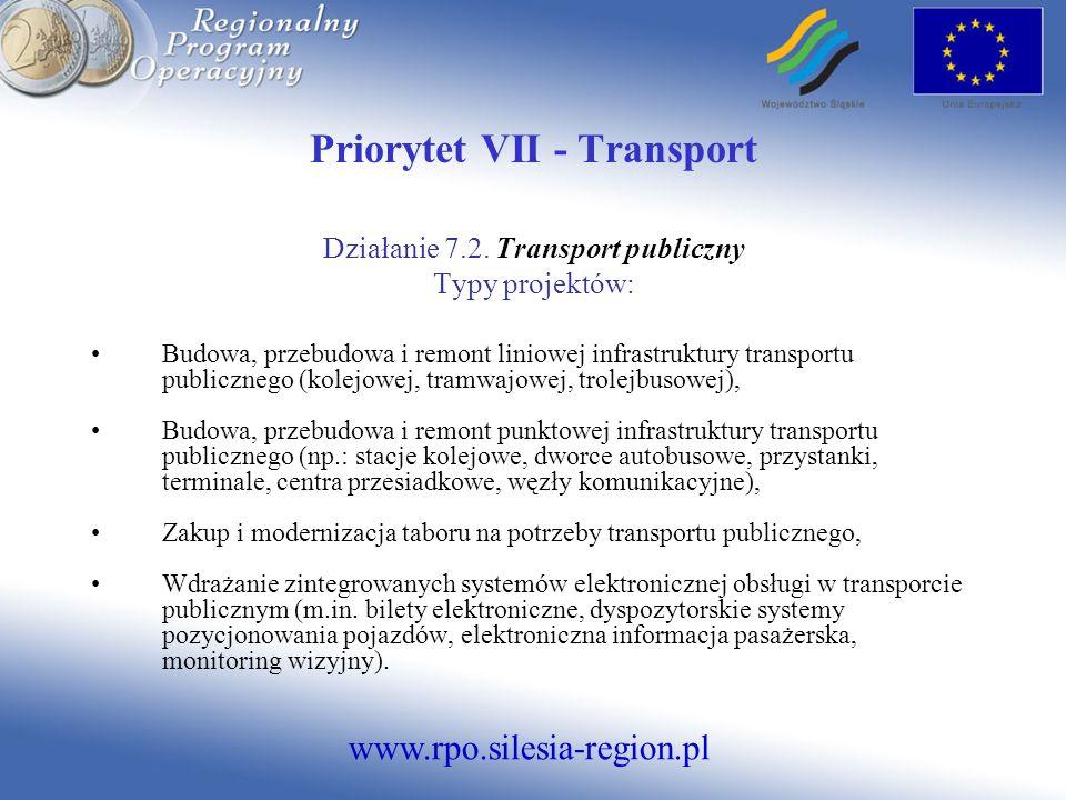 Priorytet VII - Transport