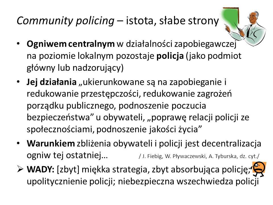 Community policing – istota, słabe strony