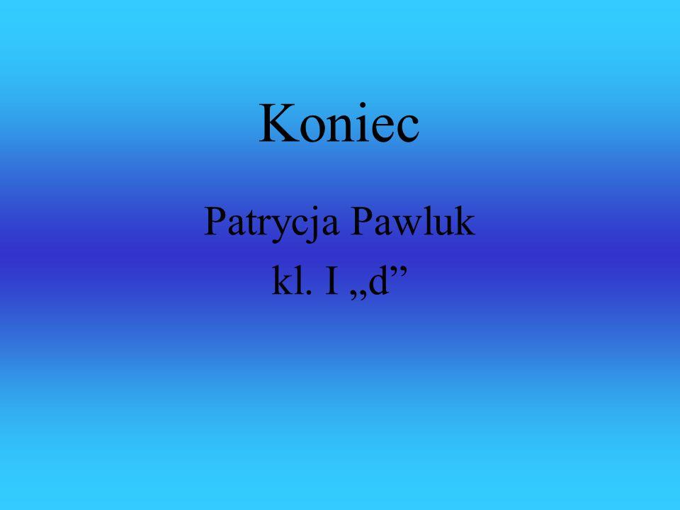 """Koniec Patrycja Pawluk kl. I """"d"""