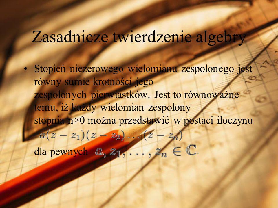 Zasadnicze twierdzenie algebry