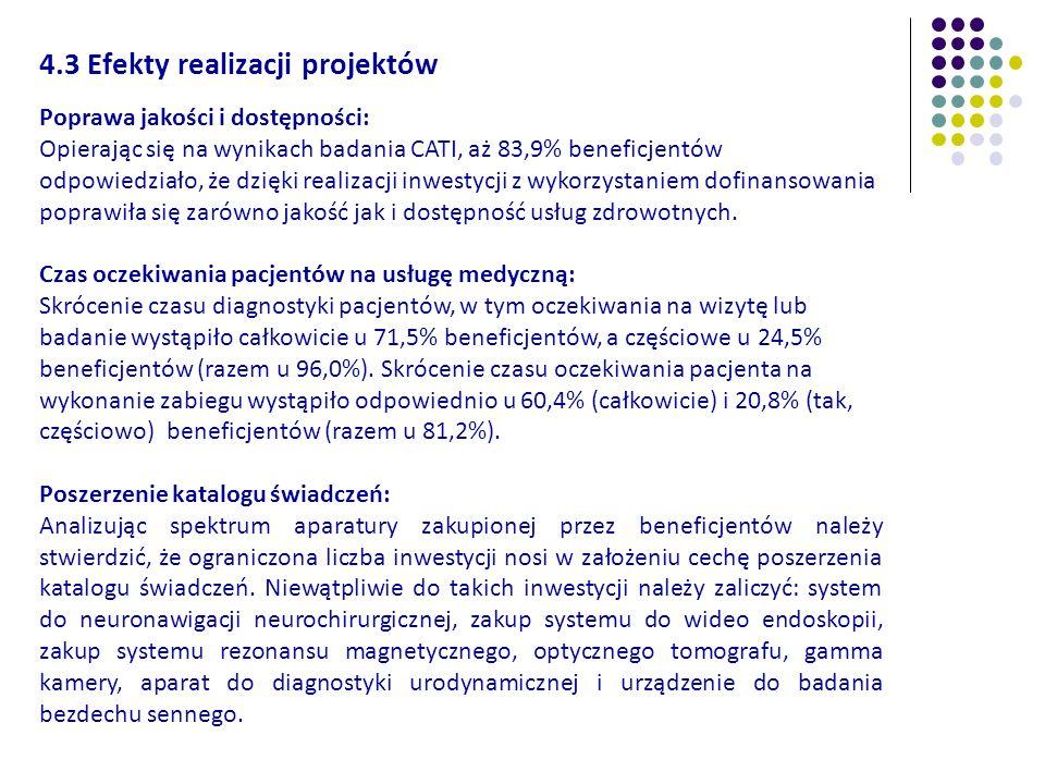 4.3 Efekty realizacji projektów