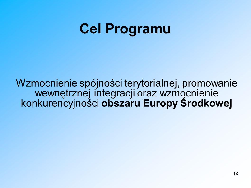 Cel Programu Wzmocnienie spójności terytorialnej, promowanie