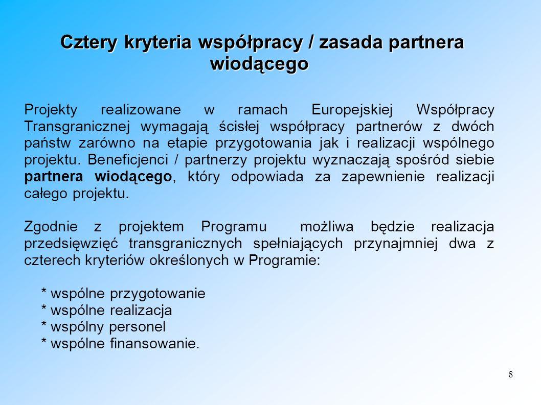 Cztery kryteria współpracy / zasada partnera wiodącego