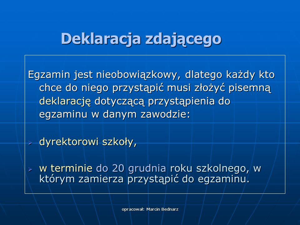 opracował: Marcin Bednarz