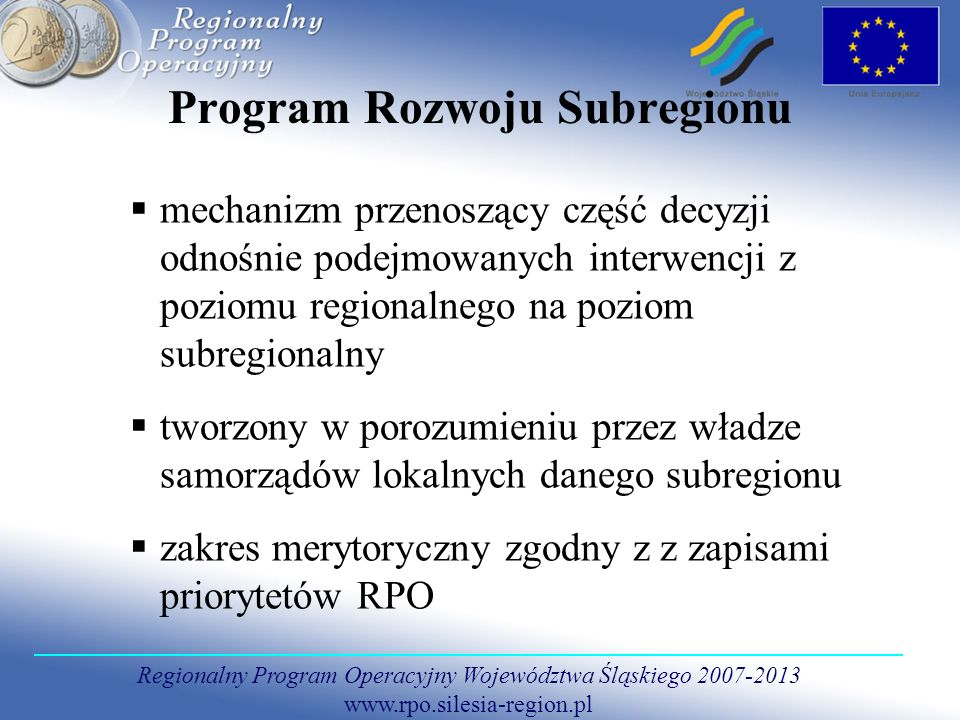 Program Rozwoju Subregionu