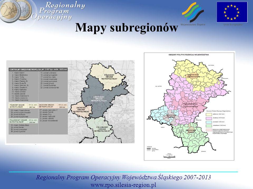 Mapy subregionów
