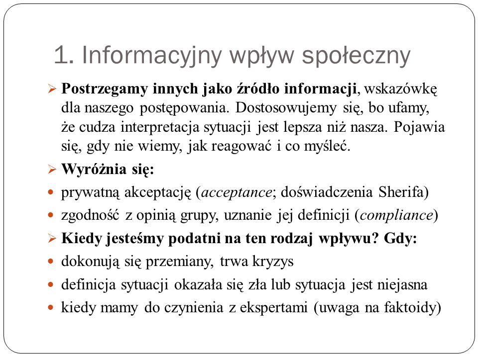 1. Informacyjny wpływ społeczny
