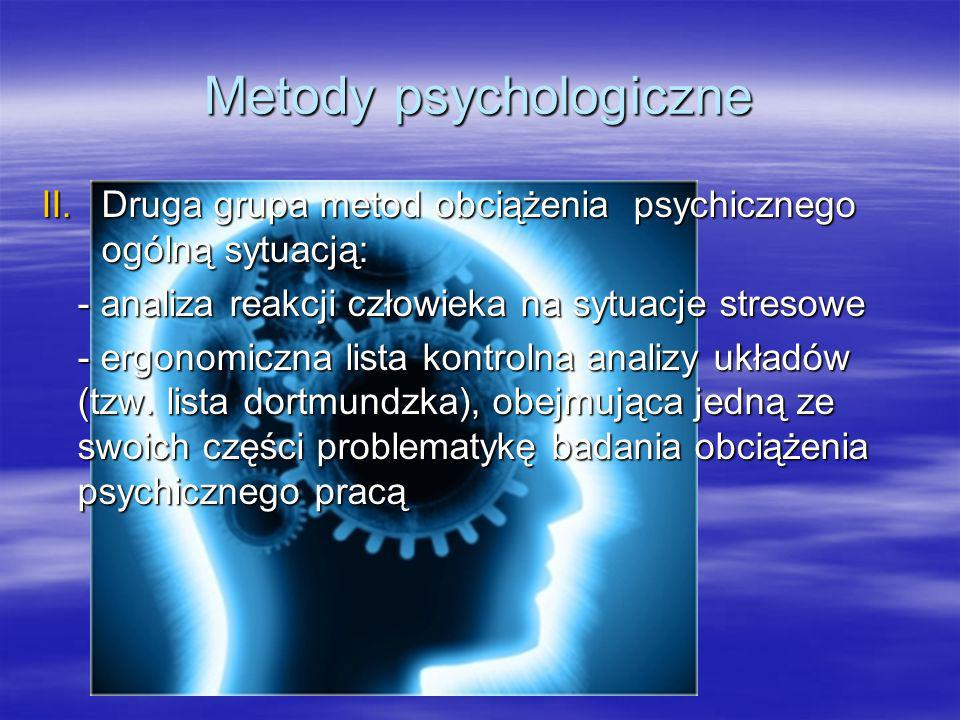 Metody psychologiczne