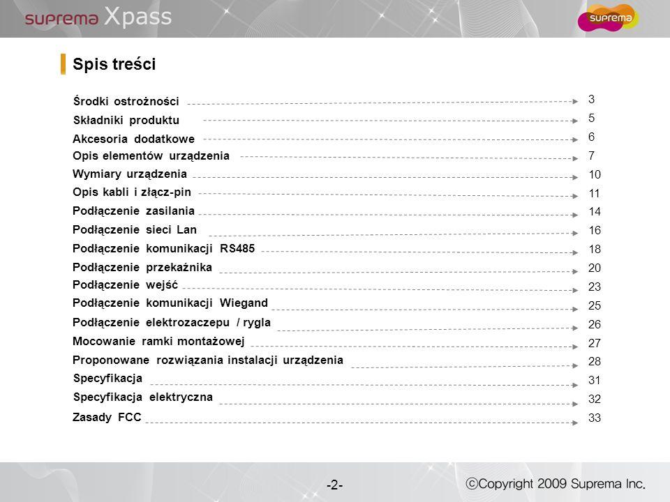 Spis treści 3 Środki ostrożności 5 Składniki produktu 6