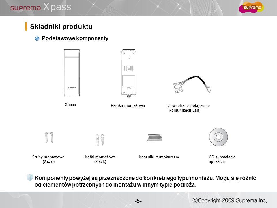 Składniki produktu Podstawowe komponenty