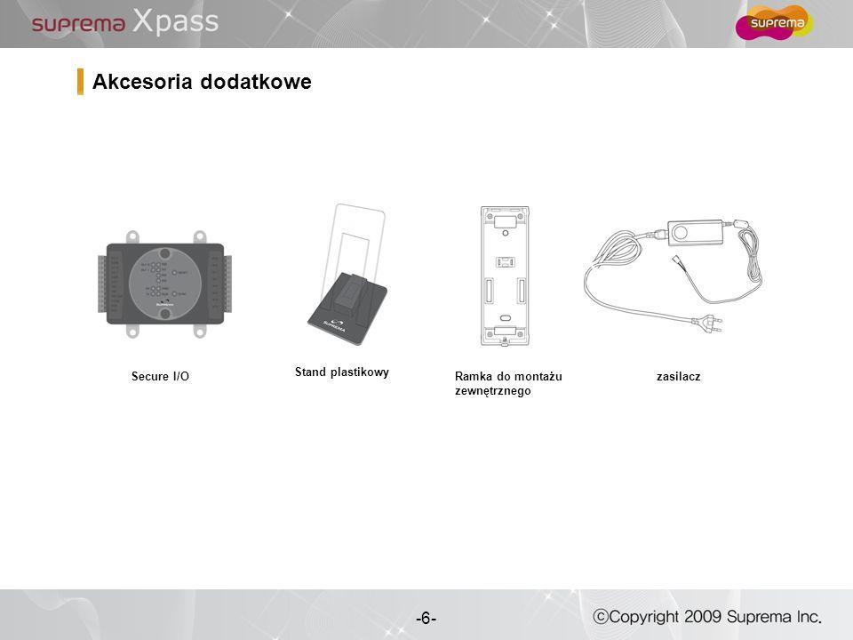 Akcesoria dodatkowe Secure I/O Stand plastikowy Ramka do montażu