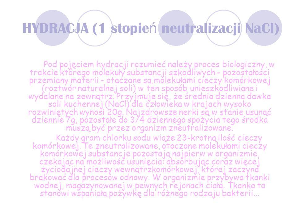 HYDRACJA (1 stopień neutralizacji NaCl)