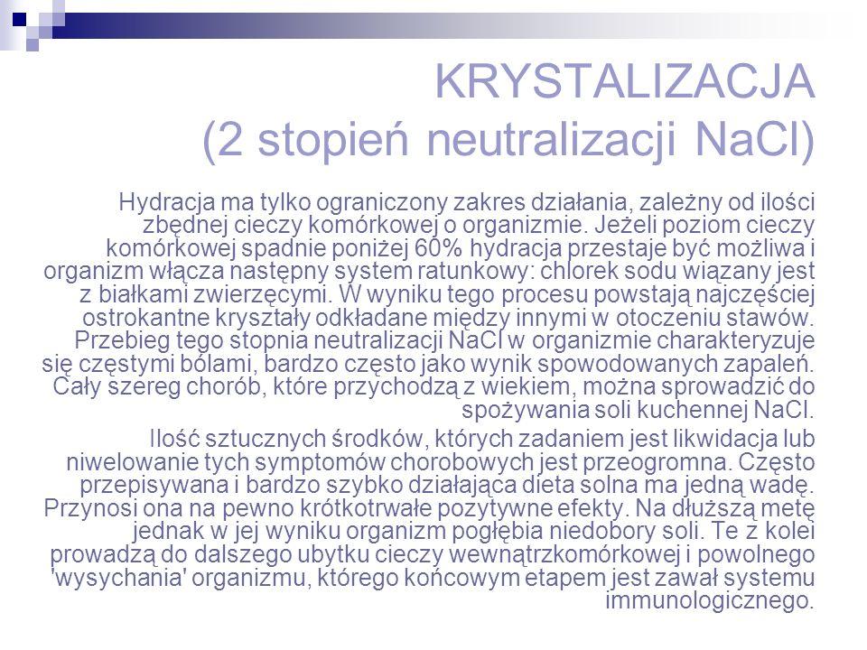 KRYSTALIZACJA (2 stopień neutralizacji NaCl)