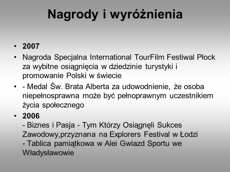 Nagrody i wyróżnienia 2007