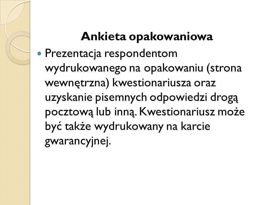 Ankieta opakowaniowa