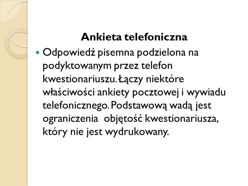 Ankieta telefoniczna